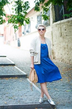 silver asoscom boots - beige H&M jacket - tan Massimo Dutti bag