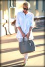 White-zara-shirt-heather-gray-prada-bag-silver-zara-pants