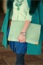 Turquoise-blue-asos-boots-aquamarine-asos-bag
