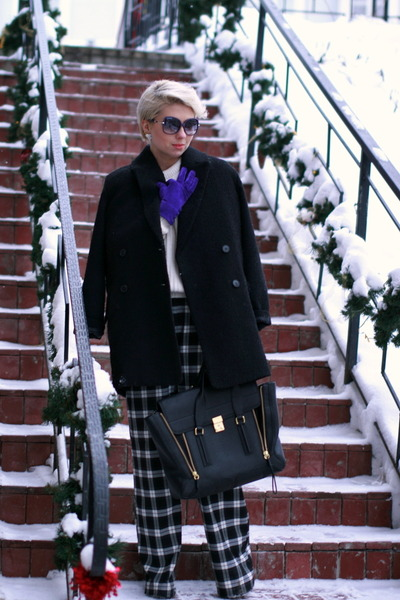 cream Zara sweater - black 31 Phillip Lim bag - black asoscom pants