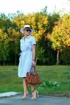 brown Michael Kors bag - ivory Zara heels