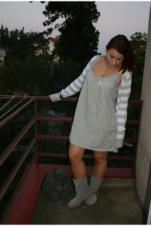 Zara dress - Zara sweater - Promod shoes
