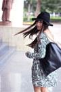 Black-lulus-dress-black-forever-21-hat-navy-shoedazzle-heels