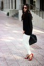 Black-lulus-sweater-black-shoedazzle-bag-red-forever21-sunglasses