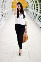 Sole Society bag - Loucos & Sueltos shoes - Ray Ban sunglasses - Forever21 pants