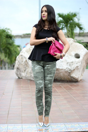 green Gap jeans - hot pink Forever21 bag - Invicta watch