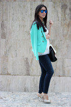 Gap jeans - Forever21 blazer - Shoedazzle bag - Ebay sunglasses