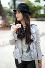 Silver-shoedazzle-shoes-black-forever21-hat-heather-gray-zara-t-shirt