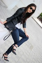 black Forever21 jacket - navy Gap jeans - black Sole Society bag