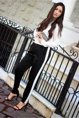 black Local store pants - white Bershka shirt - black Zara heels