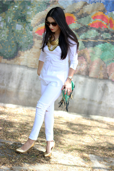white Just Usa jeans - white lucy shirt