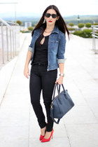 LAB jacket - citizens of humanity jeans - ray-ban sunglasses - Shoedazzle pumps