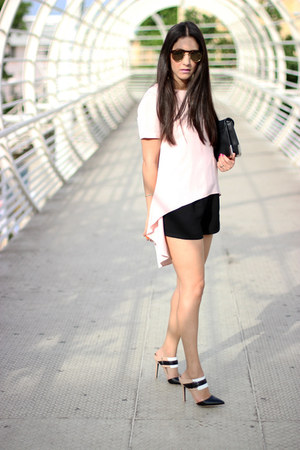 black Forever 21 shorts - light pink Local store top - black Shoedazzle pumps