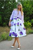 light purple DIU by zazulka skirt - periwinkle Centro bag