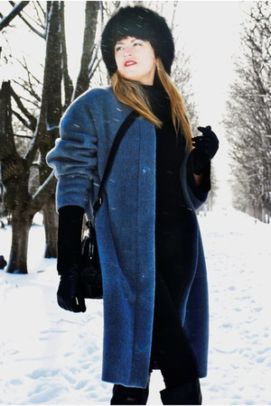 DIY coat - black hat