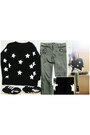 Black-knitting-wool-mart-of-china-sweater-olive-green-river-island-pants