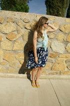 navy Jason Wu for Target skirt - black Ray Ban sunglasses