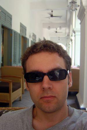black Giorgio Armani sunglasses