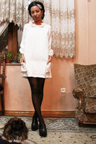 white Revolveclothingcom dress - black penti - black Accessorize - white Accesso