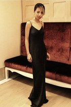 black silk Alexander Wang dress