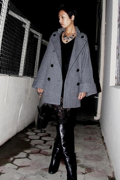 silver statement Accessorize necklace - black Marc Jacobs boots