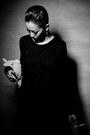 Black-backless-knit-diy-dress-white-dreamcatcher-diamond-studded-earrings