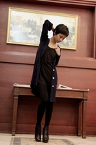 black Mango shirt - black Accessorize leggings - black sam edelman boots