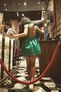 Green-zara-dress