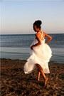 White-goddess-romwe-dress-hot-pink-flower-stolen-accessories