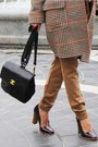 Black-helled-oxford-mango-shoes-tan-tommy-hilfiger-coat-carrot-orange-feathe