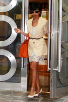 shoes - beige bf blazer Zara - Zara - Topshop - Accessorize - brown dior