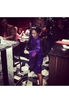purple kimono vintage dress