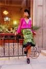 Green-banana-prada-skirt