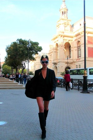 black Zara boots - black boyfriend Stella McCartney blazer