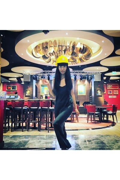 black silk Alexander Wang dress