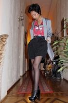 gray Topshop - red Mango - black Topshop - black Pierre Hardy boots - Accessoriz