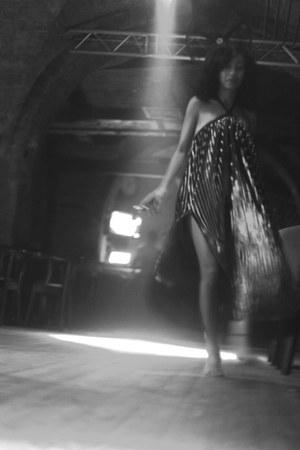 silver diy dress
