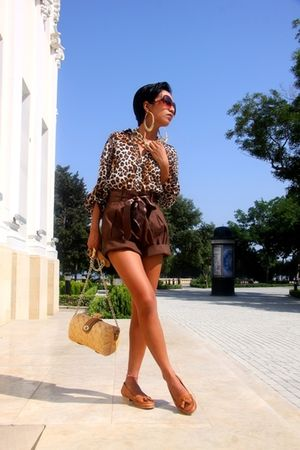 Mango sunglasses - brown donna karan - brown Zara - gold H&M