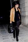 Brown-naf-naf-jacket-black-mango-shirt-black-mango-black-mango-scarf-bla