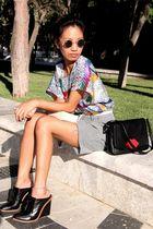 black gold lennon sunglasses - vintage ebay - gold m pendant Topshop