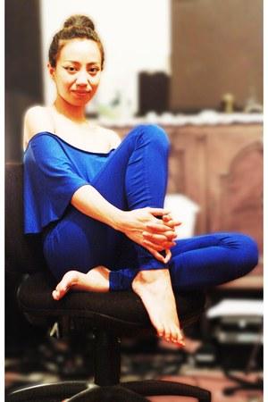 blue jumpsuit asos pants