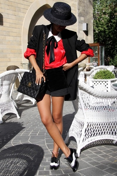 shoes - black boater Zara hat - Prada sunglasses - black Stella McCartney