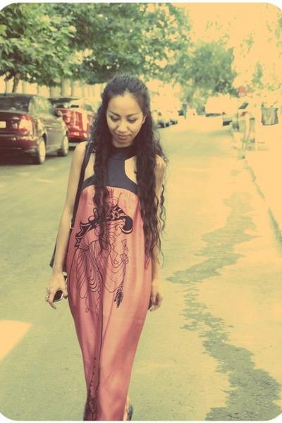 coral silk Voom by Joy Han dress