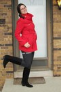 Black-boots-red-bb-dakota-coat-dark-gray-f21-shorts