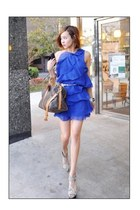 blue romwe dress