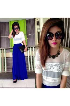 blue maxi skirt no brand skirt