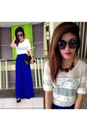 blue maxi skirt no brand skirt
