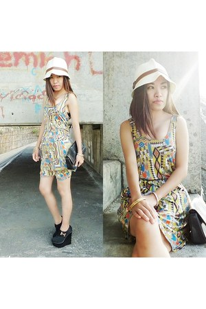 Forever 21 dress - landmark hat - Bulova watch