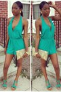 Turquoise-blue-v-cut-out-charlotte-russe-romper