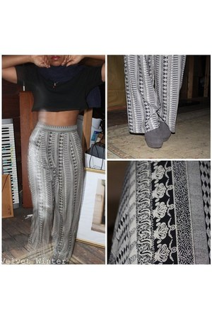Printed trousers pants